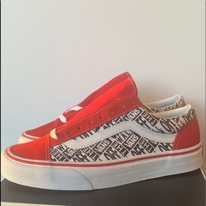 Vans Red Black and White New